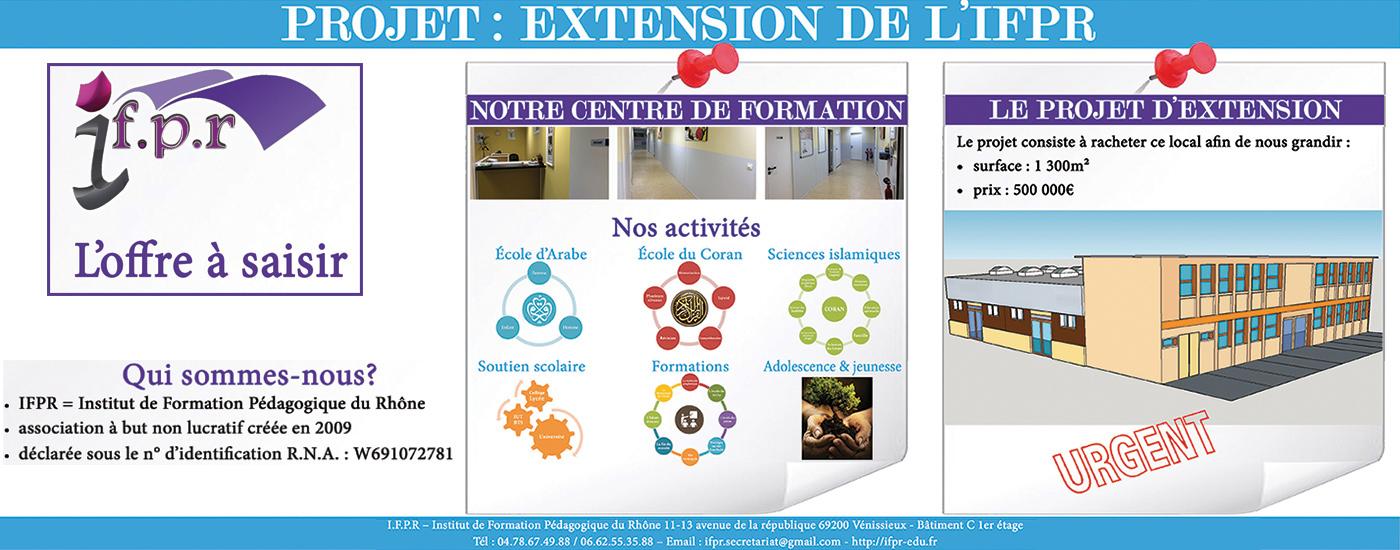 PROJET D'EXTENSION DE L'IFPR